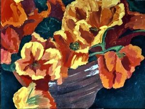 Blumenbild malen
